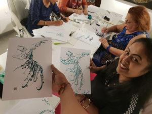 Dubai - Atelier de Calligraphie Arabe avec Hicham CHAJAI