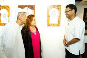 Exhibition de Calligraphes a Dubai
